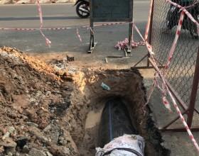 Thi công khoan ngầm qua đường số 1 tại Huế